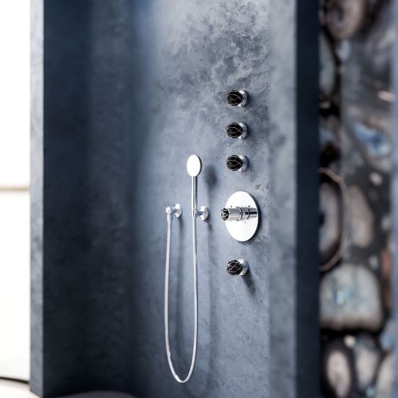 Concealed wall thermostat, wall-valve-moduls, and shower combination | Series BELLEDOR chrome
