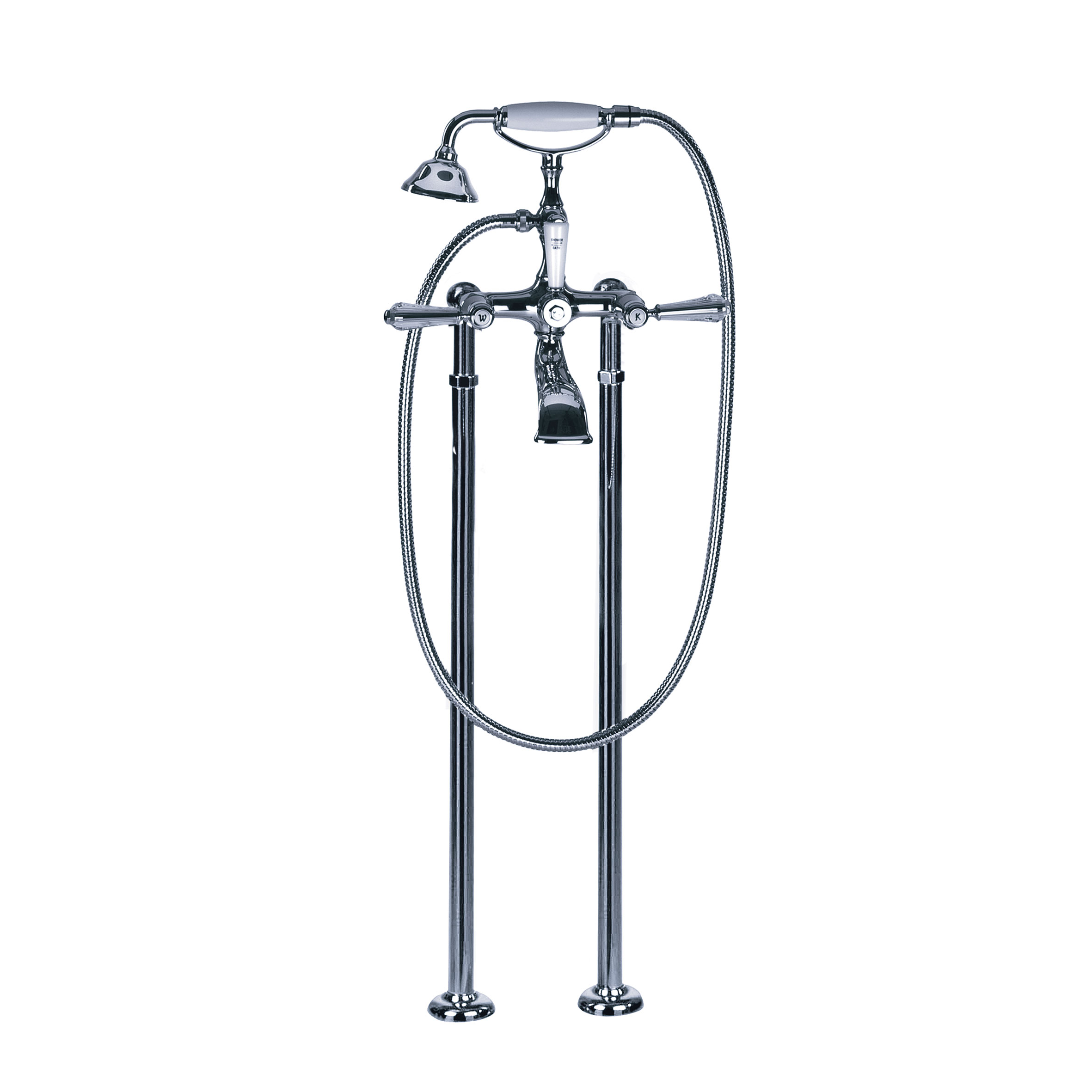 Bath tub mixer - Tub/shower mixer for supply pipes, incl. shower set - Article No. 129.20.140.xxx-AA