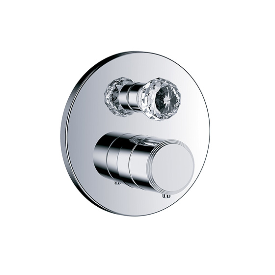 "Shower mixer - Concealed wall thermostat ½"" with flow control and diverter,assembly set with functional unit - Article No. 600.40.380.xxx-AA"