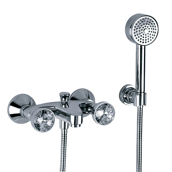 "Bath tub mixer - Exposed tub/shower mixer ½"", incl. shower set - Article No. 605.20.100.xxx"