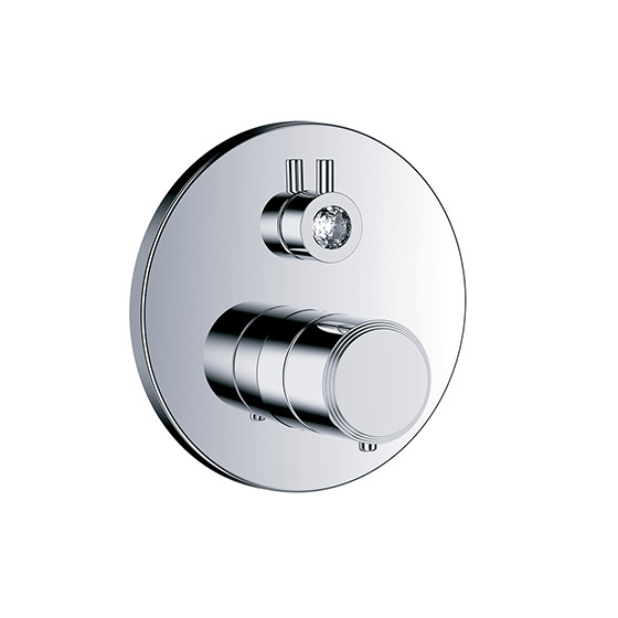 "Shower mixer - Concealed wall thermostat ½"" with flow control, assembly set with functional unit - Article No. 605.40.360.xxx"