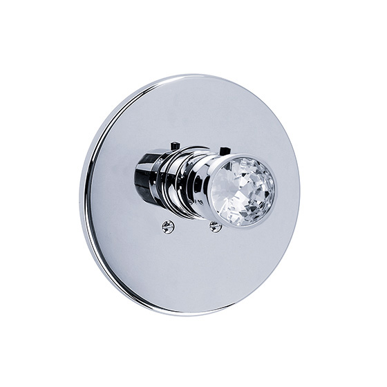 "Shower mixer - Concealed wall thermostat ¾"" without flow control, assembly set - Article No. 605.40.560.xxx"