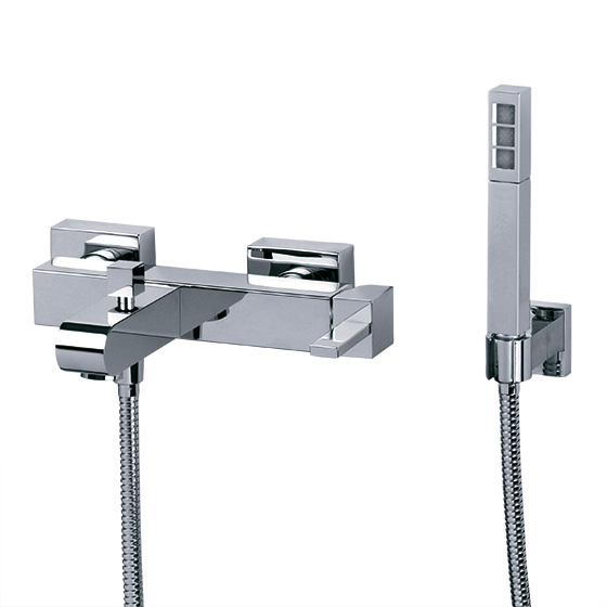 "Bath tub mixer - Single lever exposed tub/shower mixer ½"", incl. shower set - Article No. 621.20.500.xxx"
