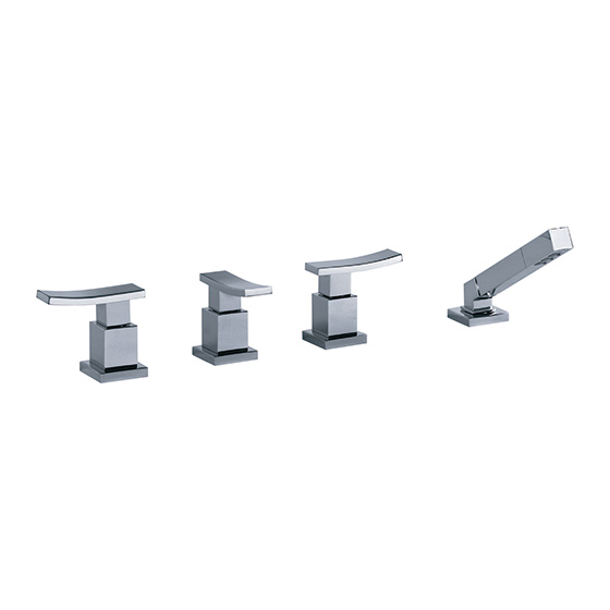 "Bath tub mixer - tub/shower combination ½"" - Article No. 628.40.150.xxx"