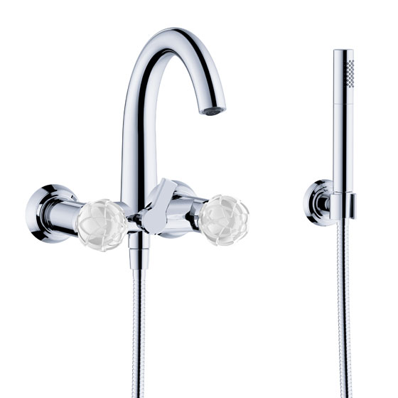 "Bath tub mixer - Exposed tub/shower mixer ½"", incl. shower set - Article No. 631.20.100.xxx-AA"