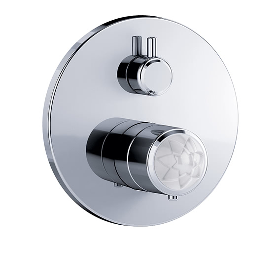 "Shower mixer - Concealed wall thermostat ½"" with flow control,assembly set with functional unit - Article No. 631.40.360.xxx-AA"