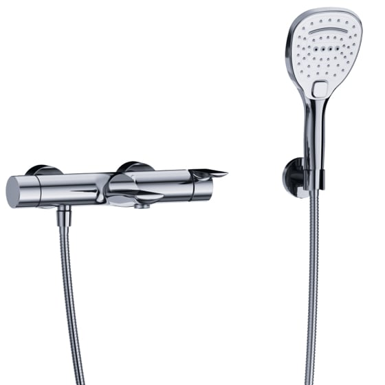"Bath tub mixer - Exposed tub/shower mixer ½"", incl. shower set - Article No. 632.20.500.xxx"