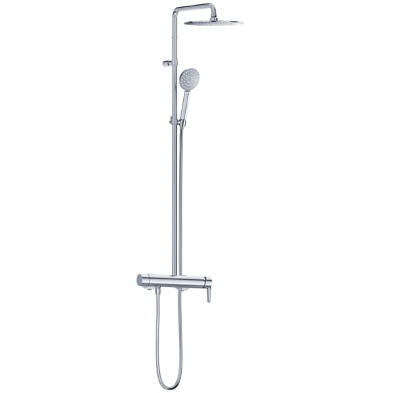 Shower mixer - Exposed shower set with shower system  - Article No. 632.20.665.xxx