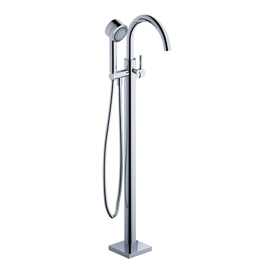 Bath tub mixer - Tub/shower mixer for floor standing mounting, assembly set - Article No. 634.10.820.xxx