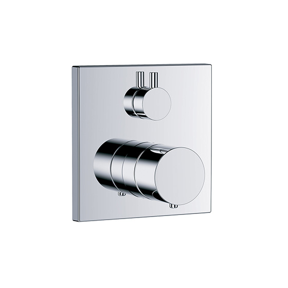 "Shower mixer - Concealed wall thermostat ½"" with flow control, assembly set with functional unit - Article No. 634.40.360.xxx"