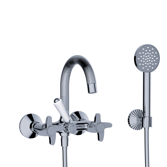 "Bath tub mixer - Exposed tub/shower mixer ½"", incl. shower set - Article No. 637.20.102.xxx"