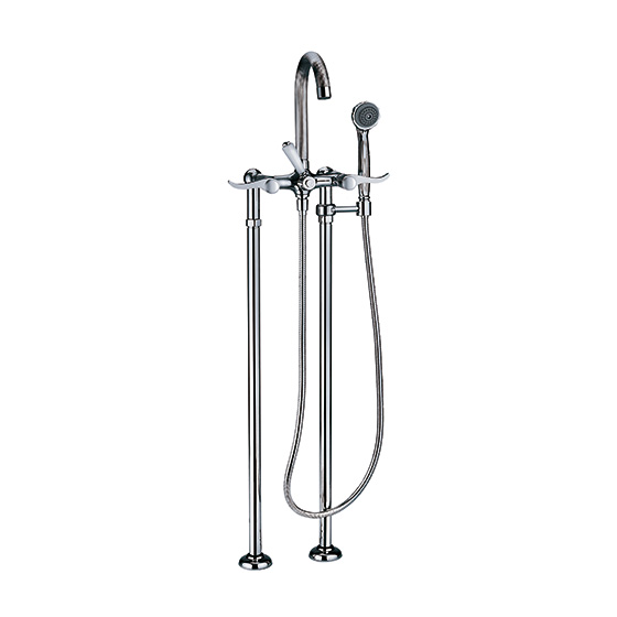 Bath tub mixer - Tub/shower mixer for supply pipes, incl. shower set - Article No. 637.20.145.xxx
