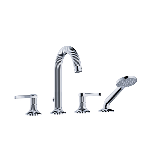 "Bath tub mixer - Tub/shower mixer set ½"" deck mount  - Article No. 637.40.107.xxx"