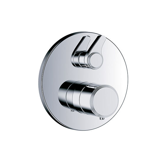 "Shower mixer - Concealed wall thermostat ½"" with flow control,assembly set with functional unit - Article No. 637.40.360.xxx"